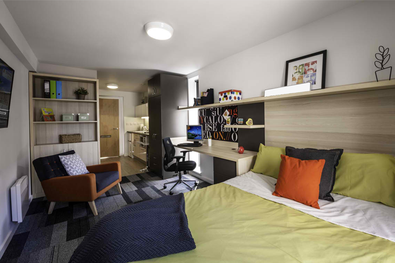 A room of a student apartment